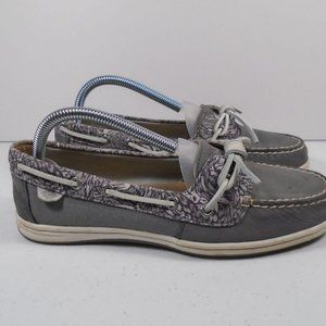 Womens Sz 9 Sperry Animal Print Boat Shoe